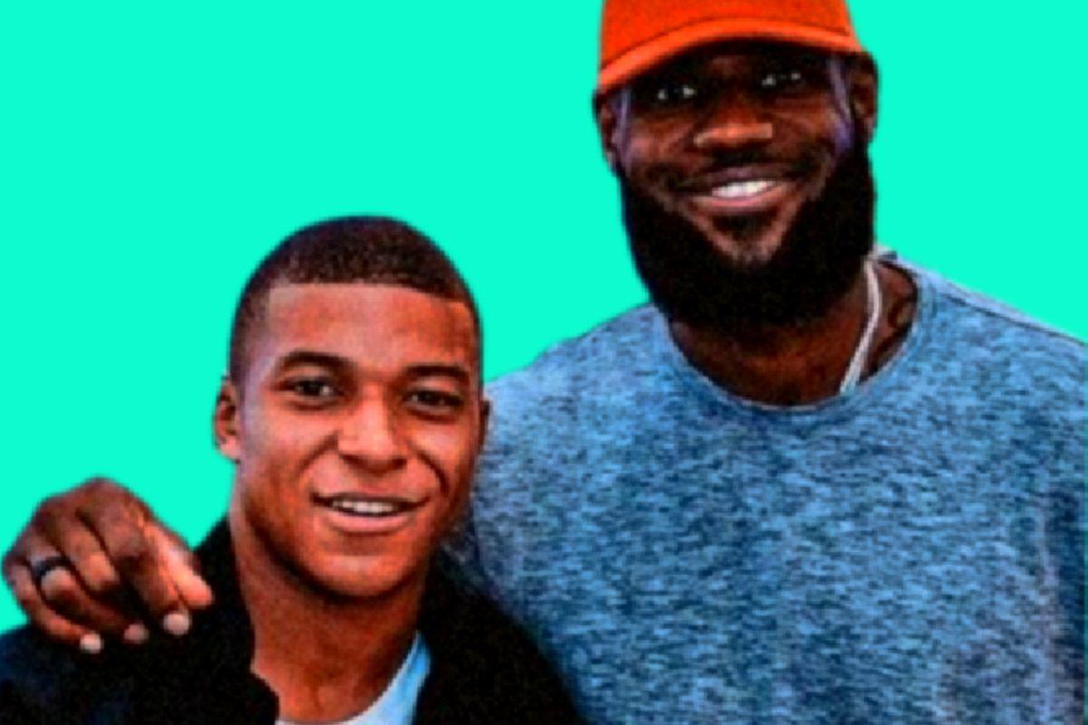Kylian Mbappe and LeBron James