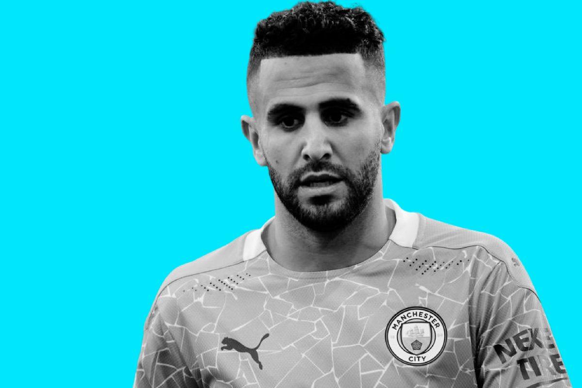 Riyad Mahrez in Man City kit