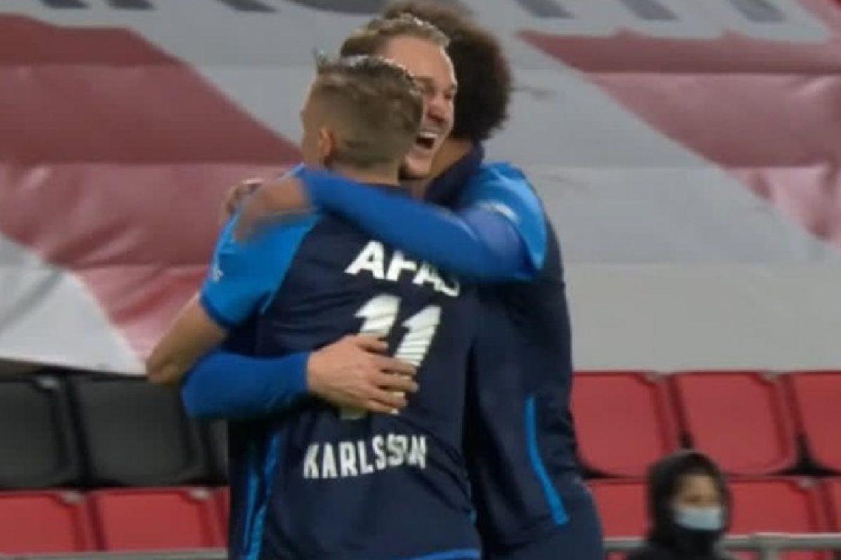 Teun Koopmeiners celebrates after goal against PSV