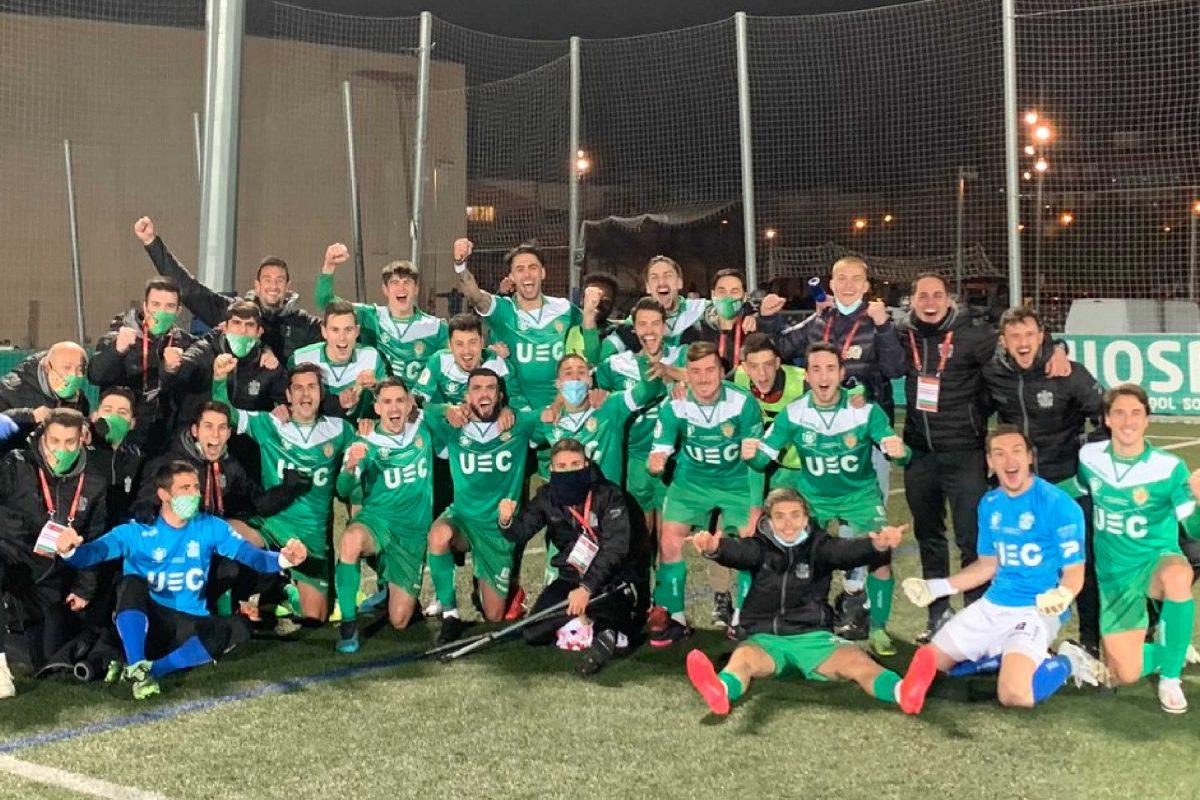 UE Cornella squad photo after Atletico Madrid win