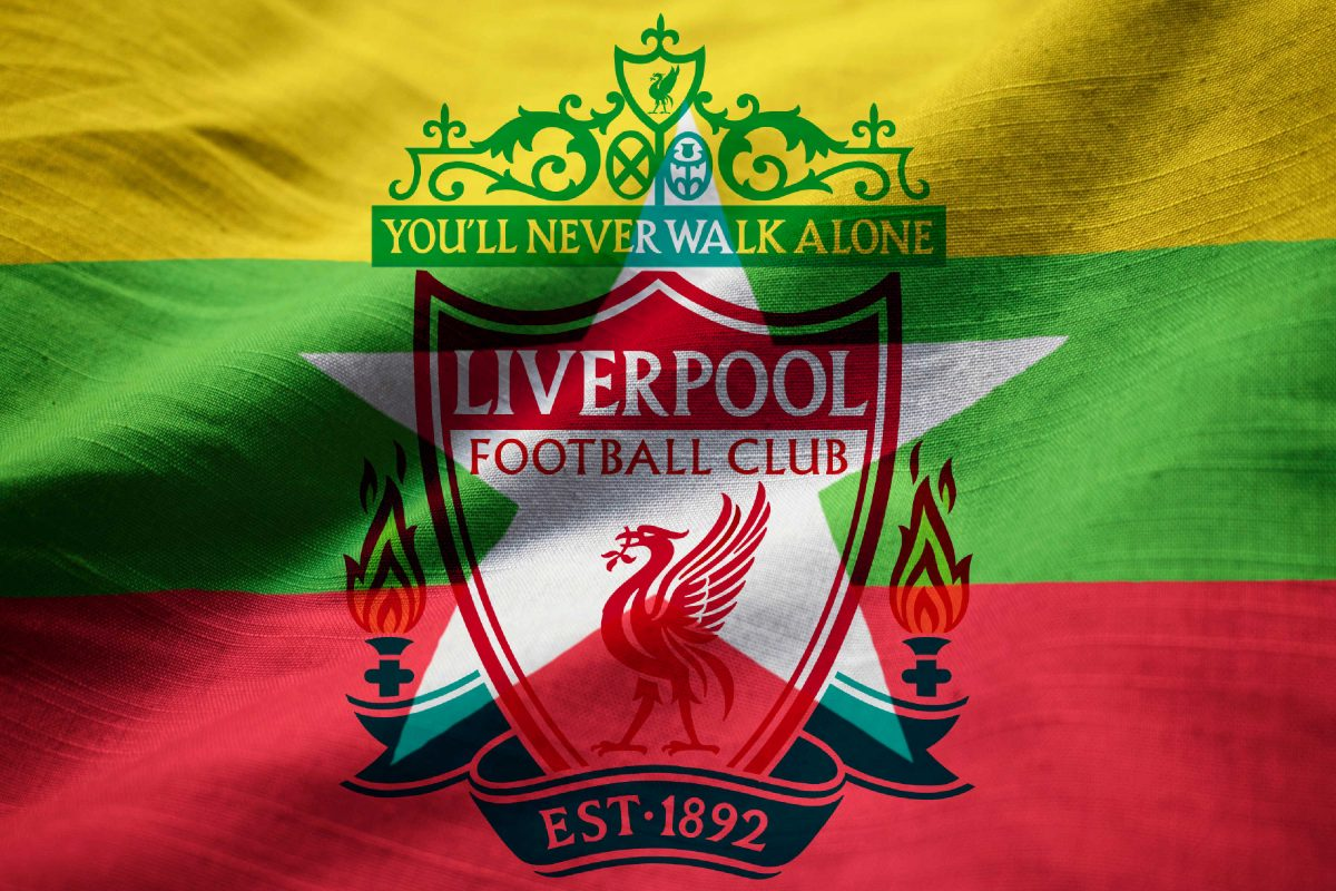 Liverpool logo on Myanmar flag