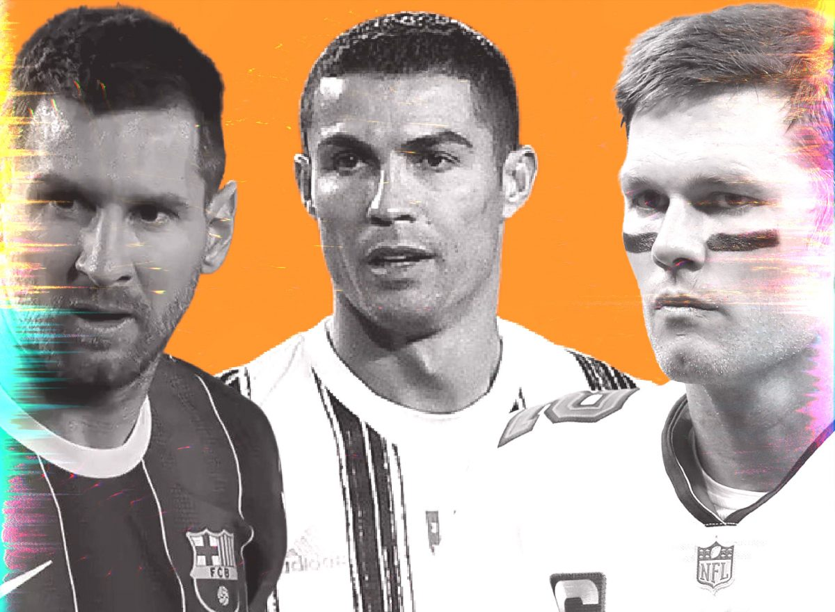 Messi, Ronaldo and Tom Brady
