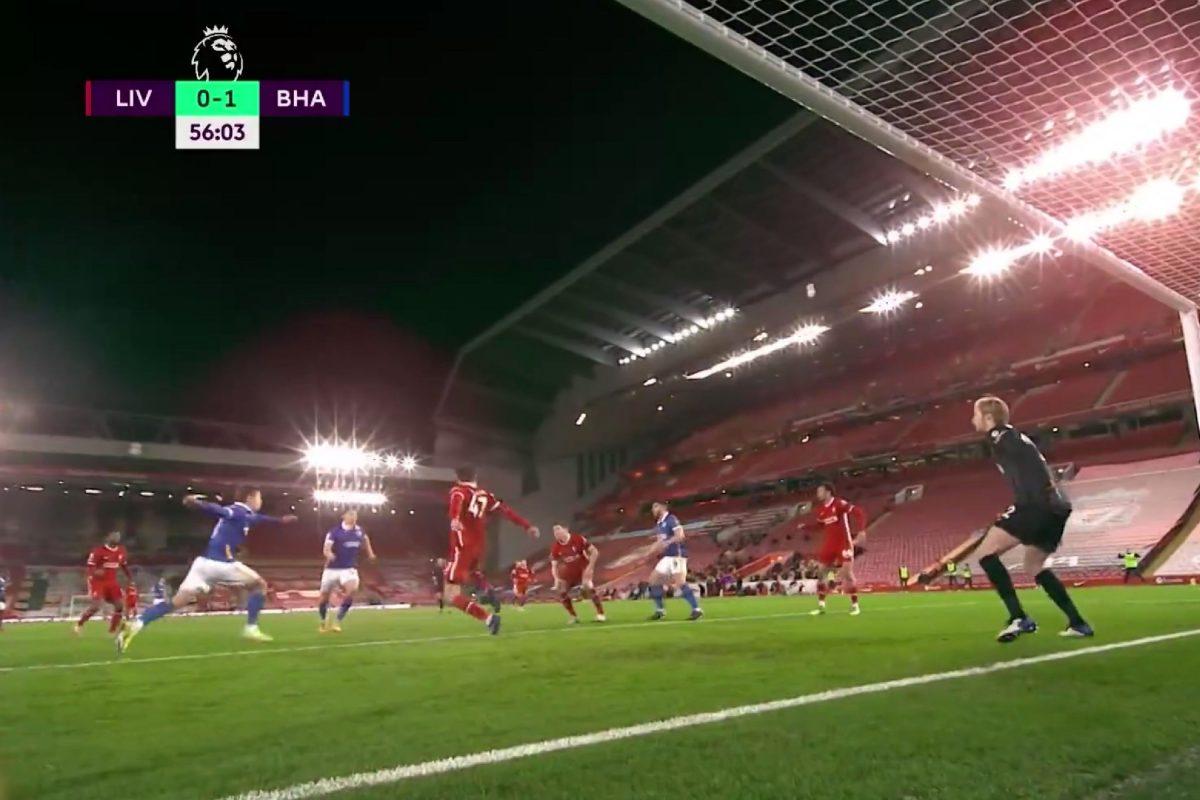 Steven Alzate's goal against Liverpool