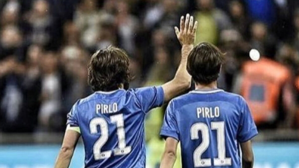 Andrea Pirlo with son Nico