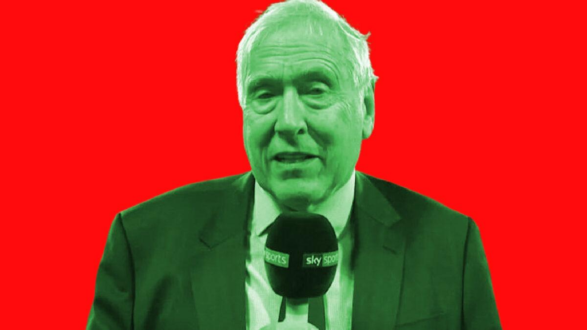 Martin Tyler analysing for Sky Sports