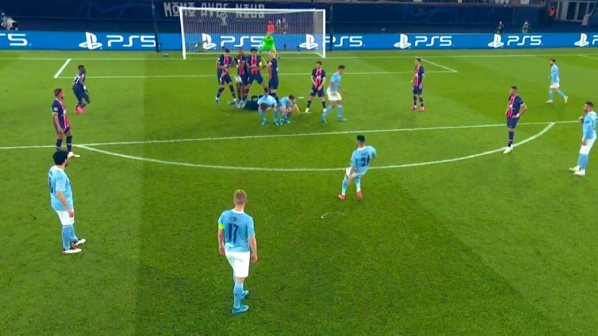 Riyad Mahrez free kick against PSG