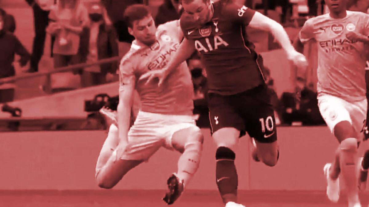 Ruben Dias tackle on Harry Kane