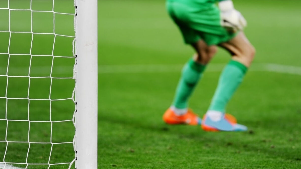 goalkeeper preparing for a penalty kick