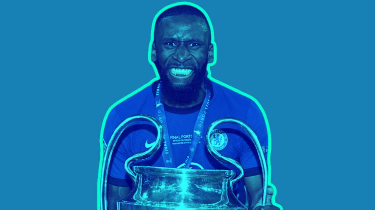 Antonio Rudiger lifts Champions League trophy