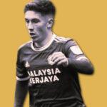 Harry Wilson in Cardiff City kit
