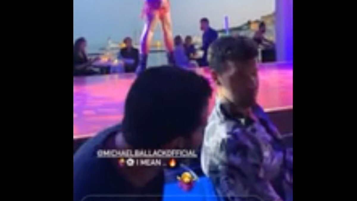 Michael Ballack ignores lingerie-clad cabaret dancers to watch CL final between Chelsea and City
