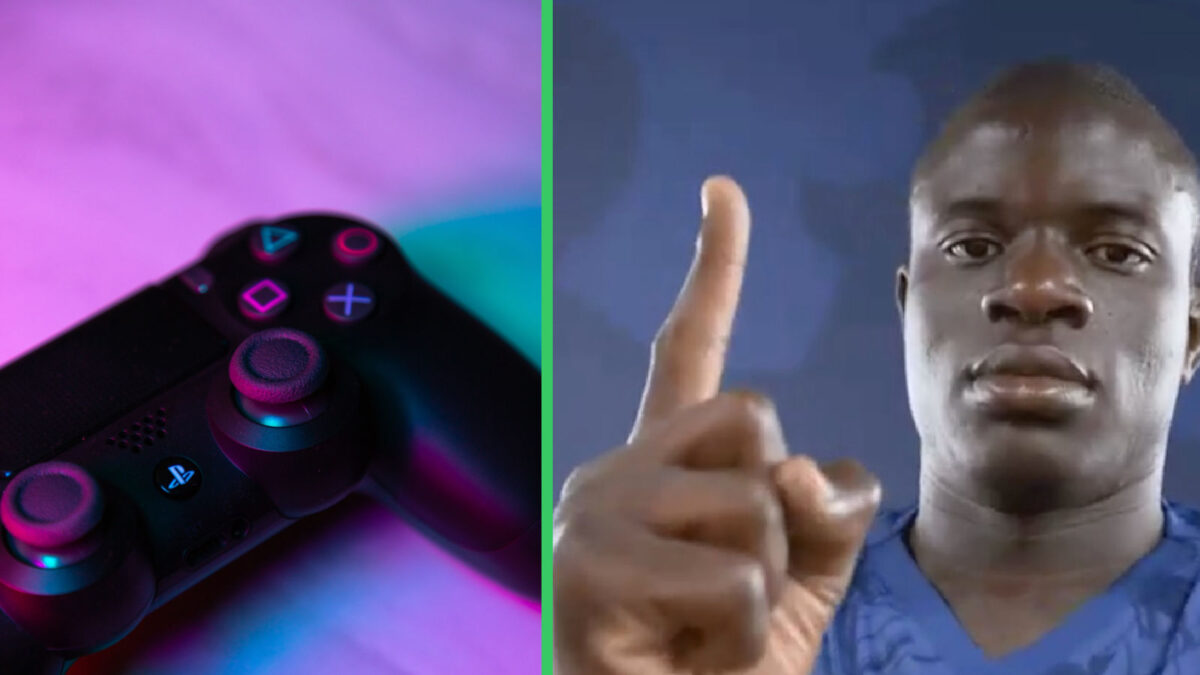 Photo of PlayStation controller and N'Golo Kante side-by-side