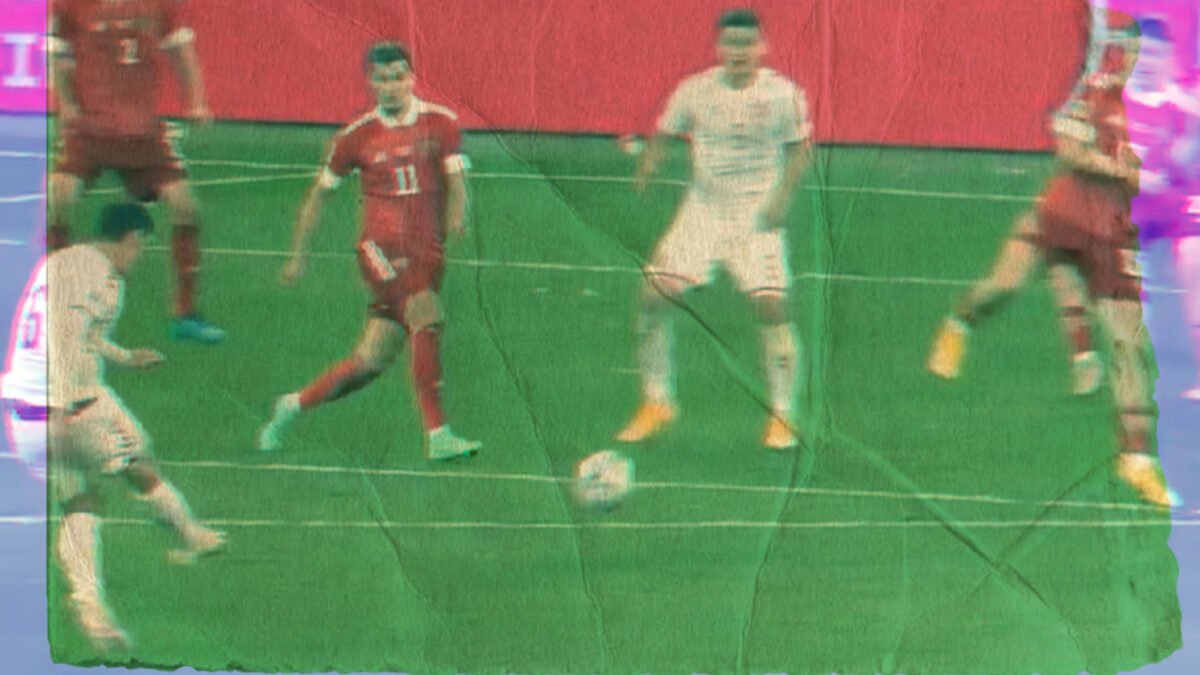 Andreas Christensen strikes a stunning volley goal against Russia