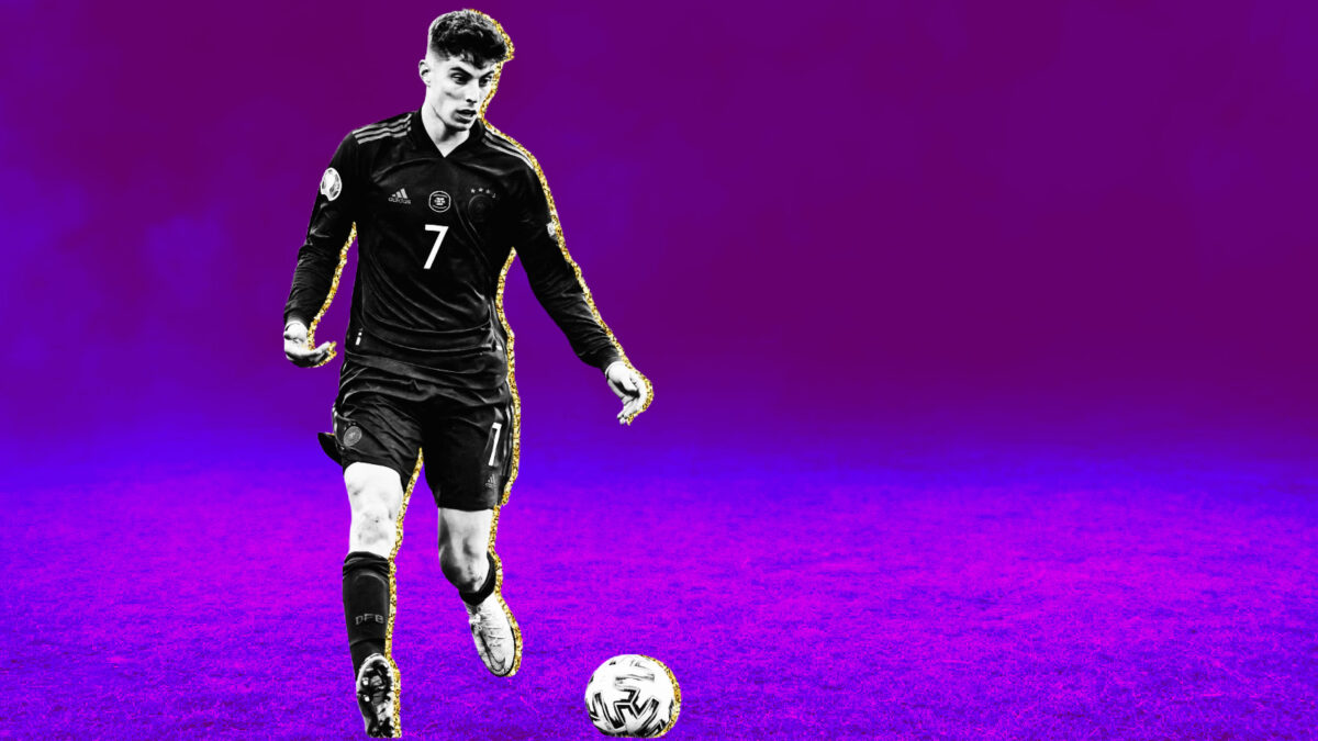 Kai Havertz focused at the ball during game against England (1)