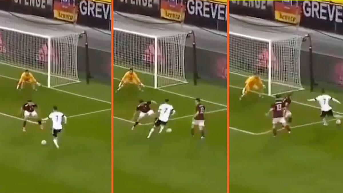 Kai Havertz forcing an own goal against Latvia