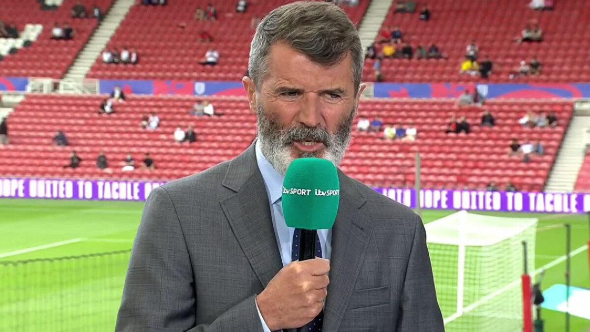 Roy Keane during punditry work for ITV