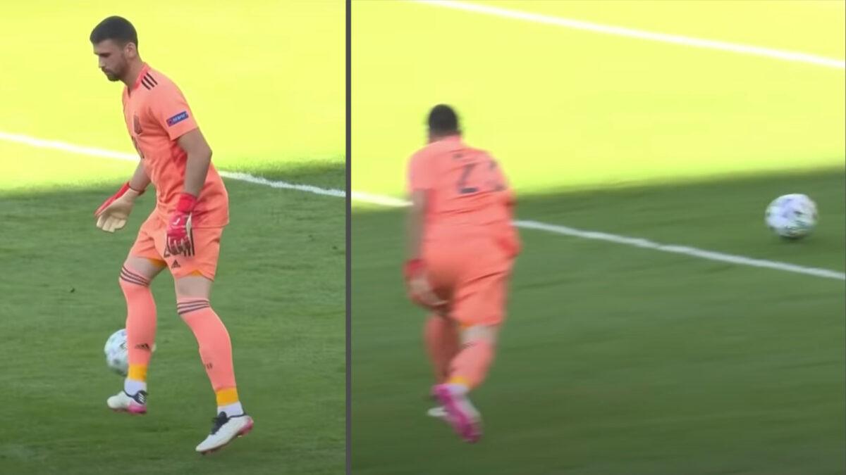 Unai Simon cocks up a back pass as Spain concede comical own goal against Croatia