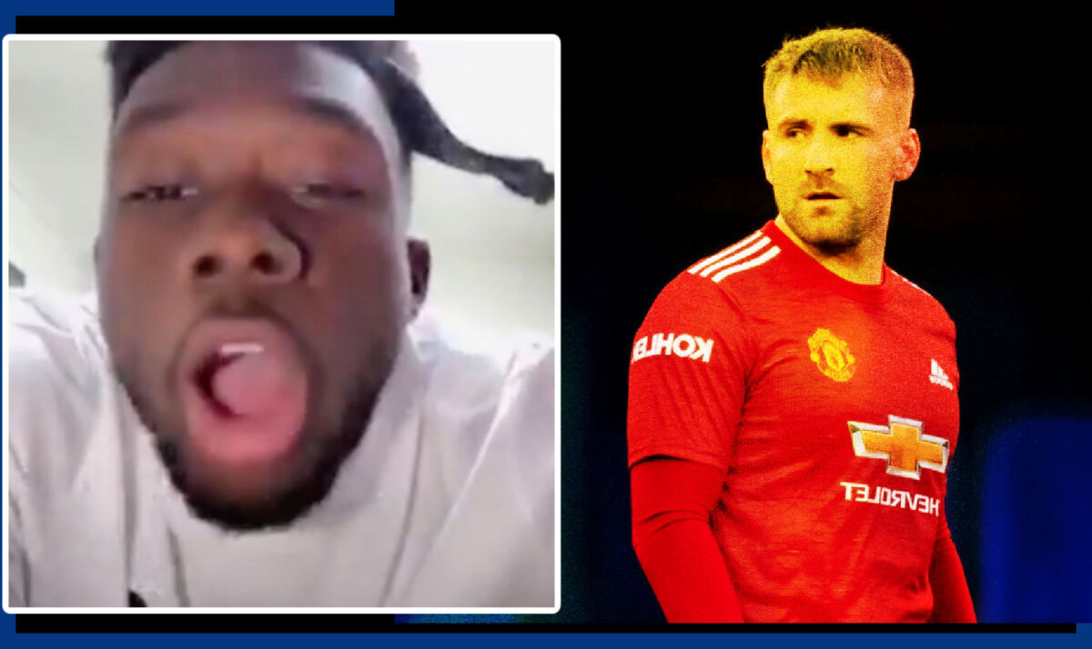 Alphonso Davies reacts to being told that the Luke Shaw is 'clear of' him on TikTok
