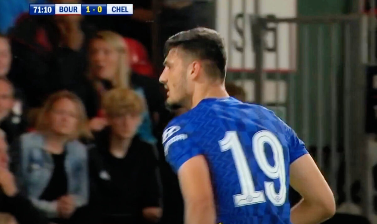 Armando Broja celebrates after scoring a composed finish against Bournemouth
