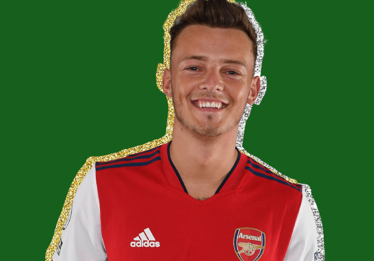 Ben White dons Arsenal's home kit for 21_22 season from Adidas during his official unveiling