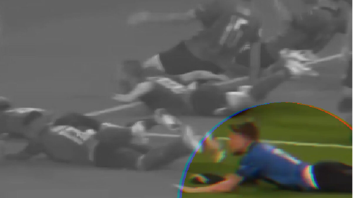 Ciro Immobile dragged his shorts off while doing the slide to celebrate after Italy's win v England
