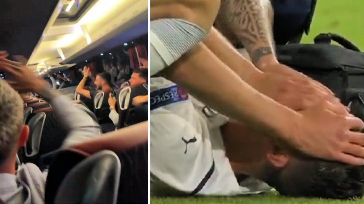 Italy players sing for Spinazzola in team bus after Belgium win