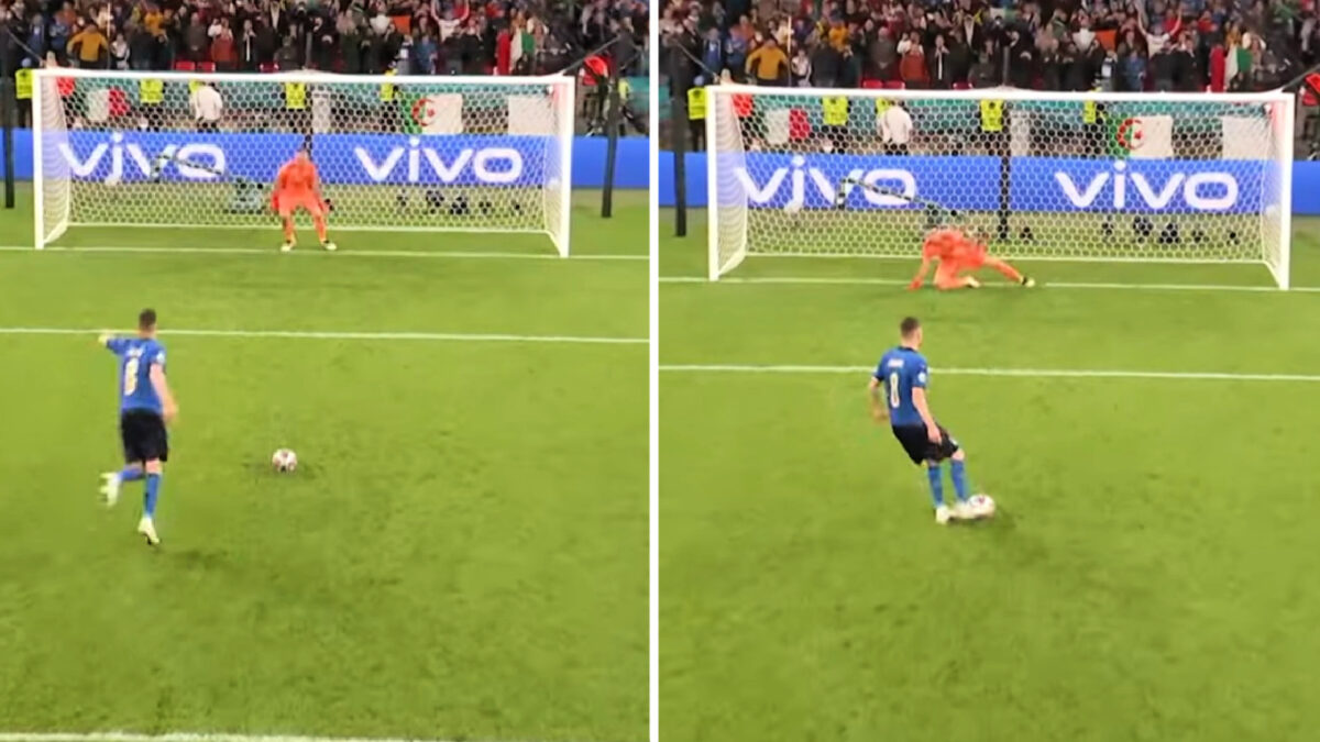 Jorginho sends Unai Simon in the wrong direction to win Italy's semi final game against Spain