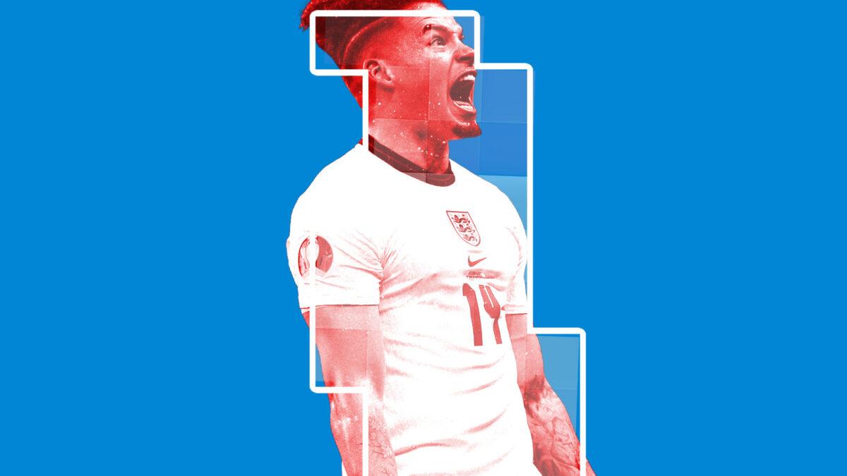 Kalvin Phillips screaming in passion during win against Denmark