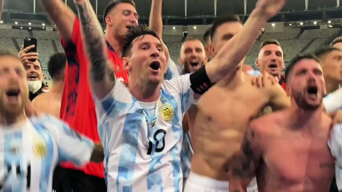 Lionel Messi was the center of attraction for all the right reasons as Argentina celebrated winning Copa America final against Brazil