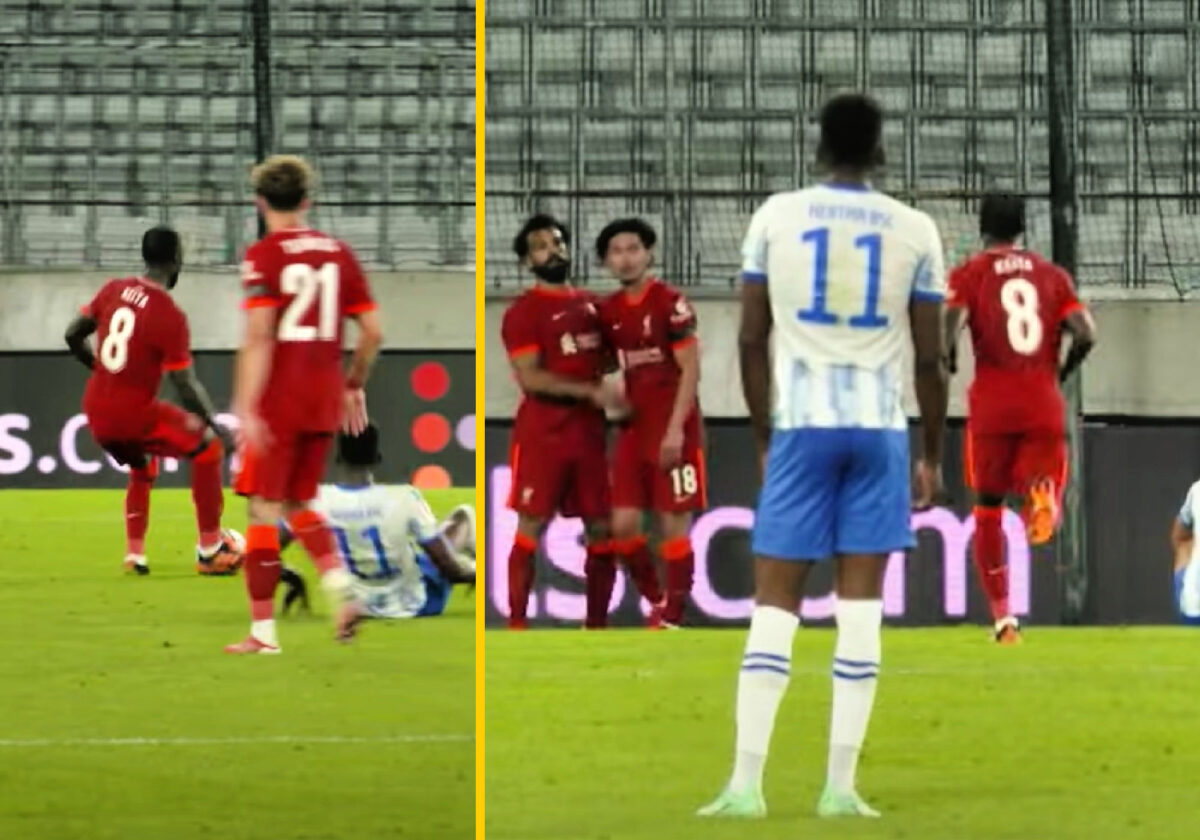 Liverpool's second goal against Hertha Berlin was a result of the brilliant combination play between Naby Keita, Mohamed Salah and Takumi Minamino