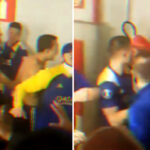 Marcos Rojo grabbed a fire extinguisher as Boca Juniors players clashed with Atletico Mineiro players after their Copa Libertadores defeat