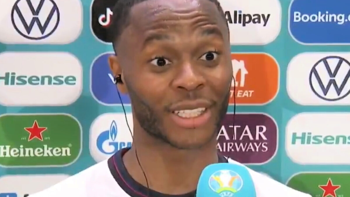 Raheem Sterling gobsmacked after a reporter asks if he's 'justified his selection'