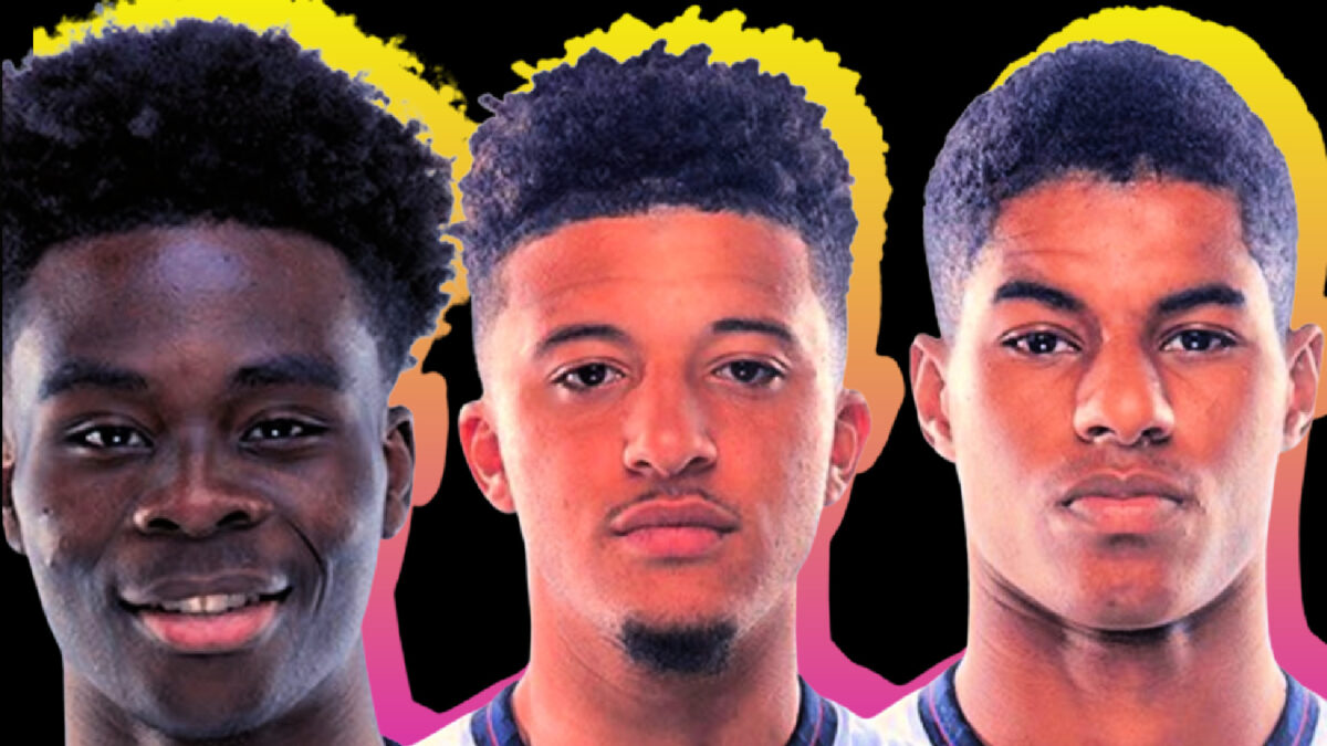 Support for Bukayo Saka, Jadon Sancho and Marcus Rashford continues to arrive from all corners of the world