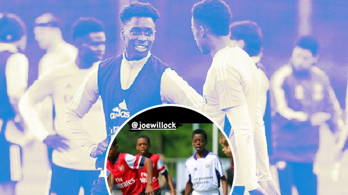 Albert Sambi Lokonga and Joe Willock during their academy days got Anderlecht and Arsenal