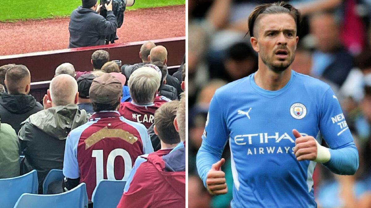 Aston Villa tapes Jack Grealish's name on the back of his kit
