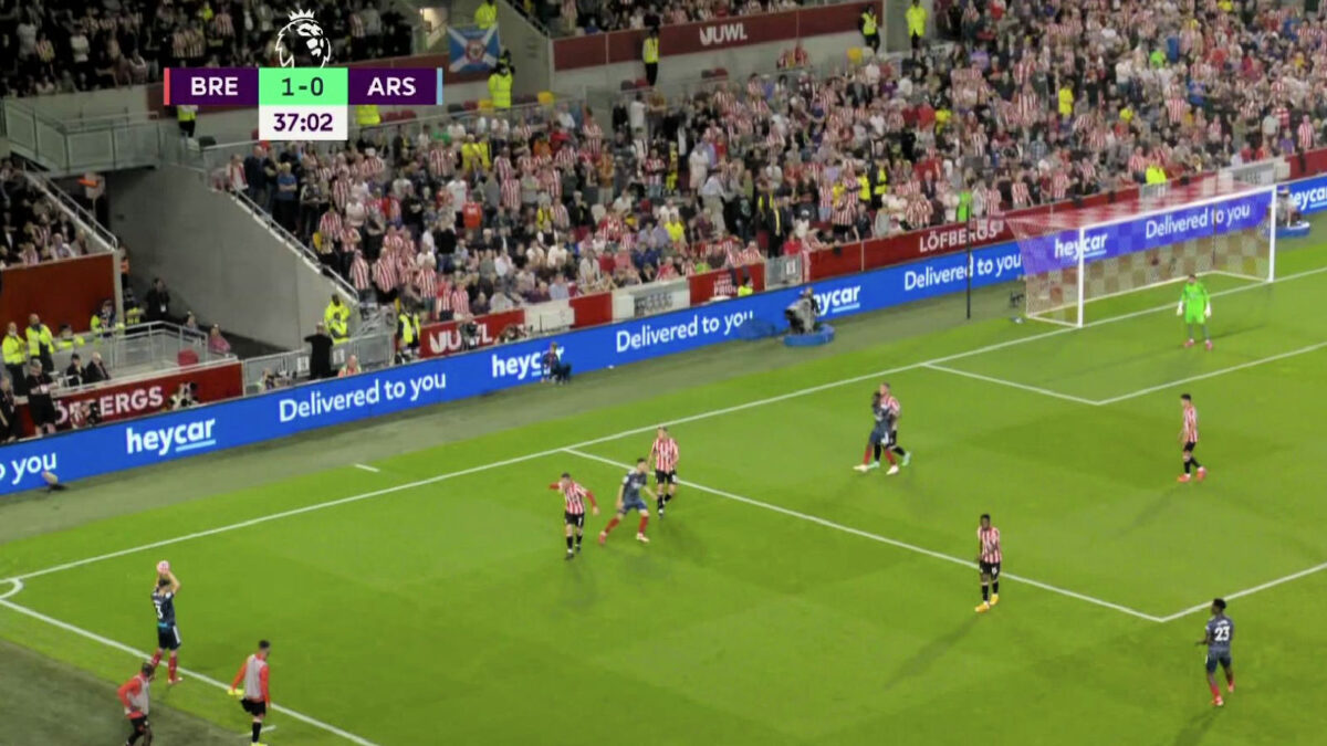 Brentford fans banter Arsenal with an x-rated chant during their 2-0 win at home
