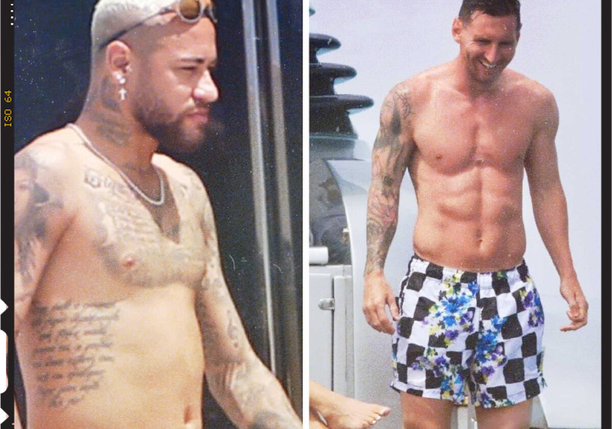 Comparing Neymar and Lionel Messi's holiday physique (1)