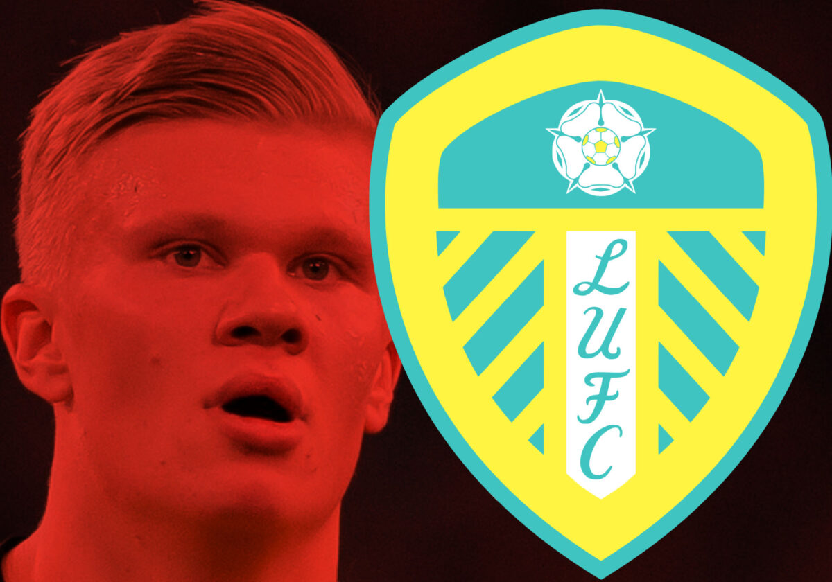 Erling Haaland was spotted representing Leeds United during his time in pre-season with Borussia Dortmund