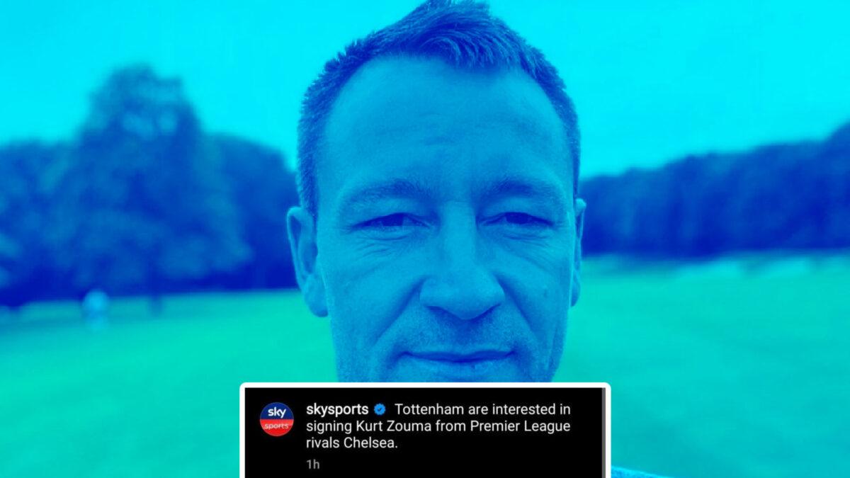 John Terry warns Kurt Zouma off a move to Tottenham Hotspur