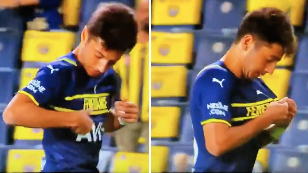 Muhammed Gumuskaya can't find his club's badge