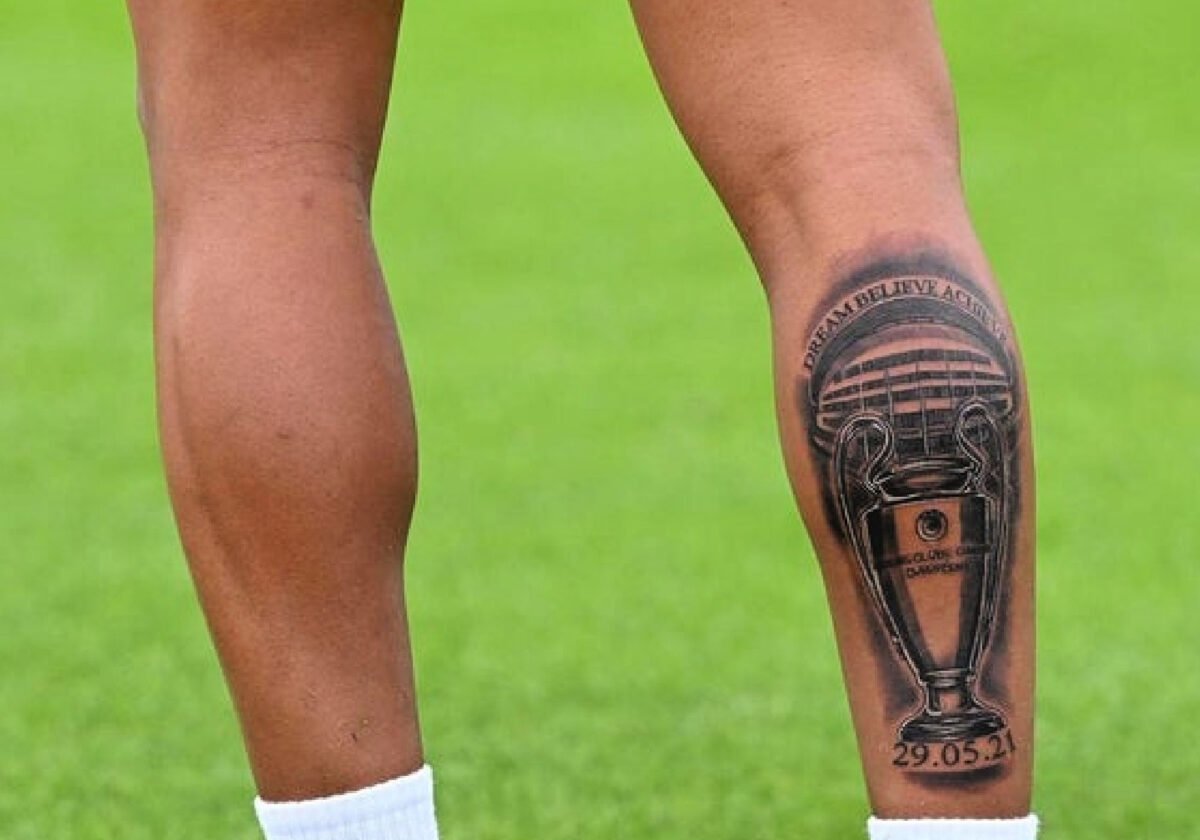 Reece James marks Champions League win with giant tattoo covering his entire right calf