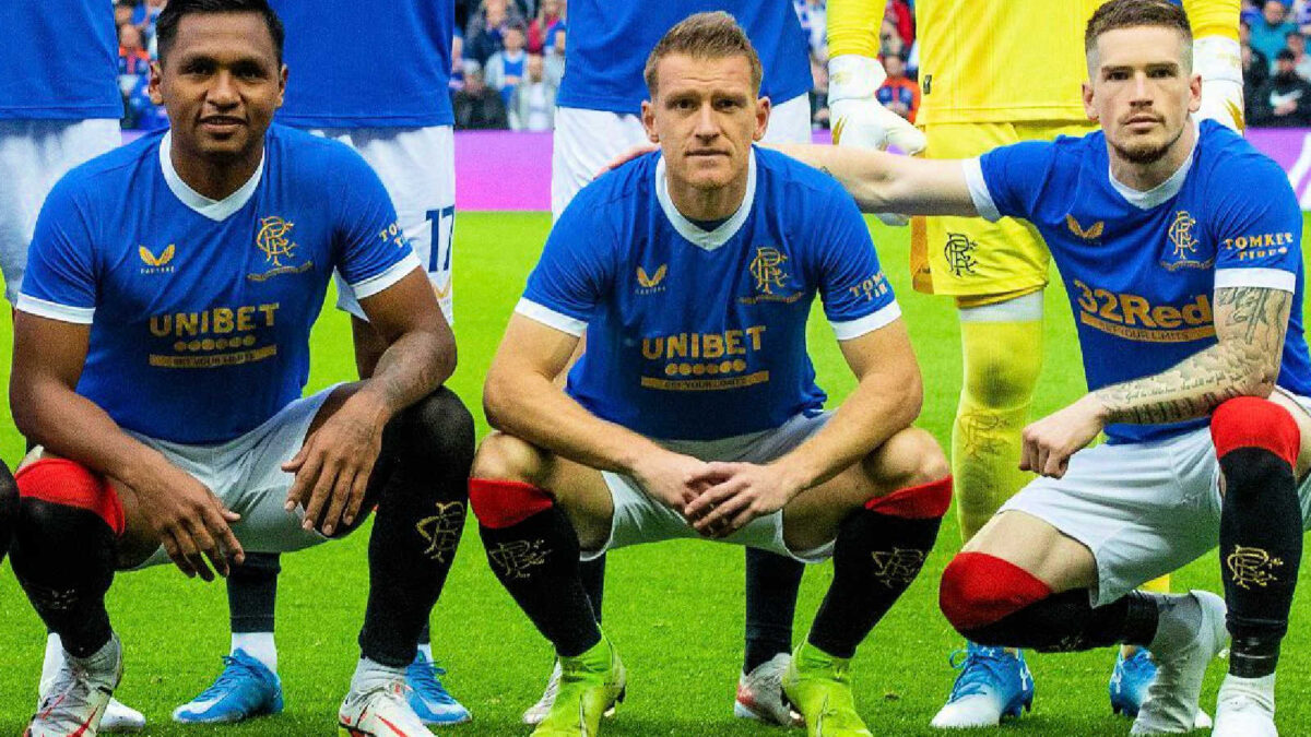 Ryan Kent kit looked a bit different than his teammates