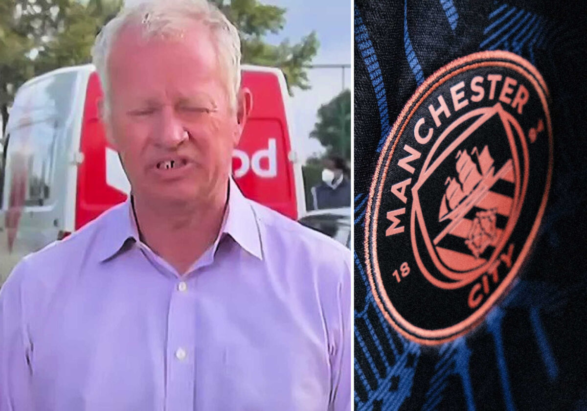 Sky Sports journo Gary Cotterill had a hard time pronouncing Manchester City live on air