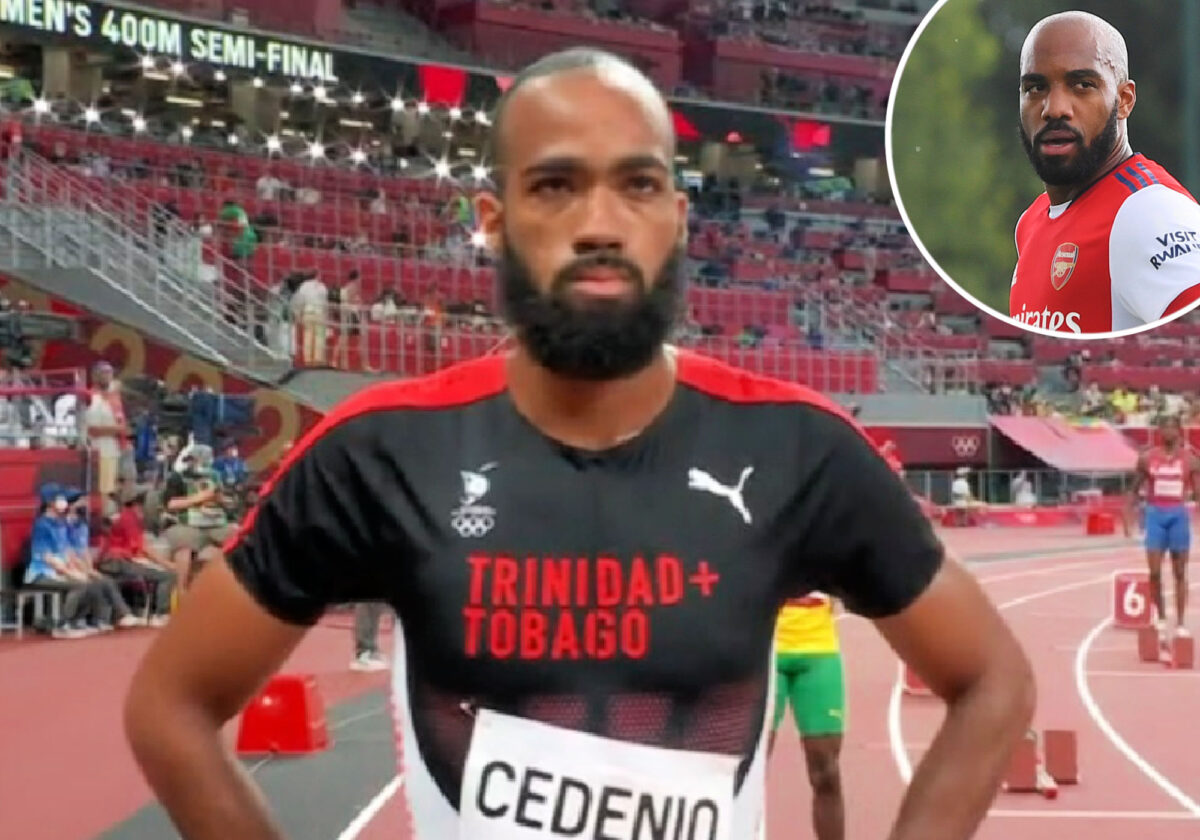 Trinidad & Tobago athlete Machel Cedenio is a spitting image of Alexandre Lacazette