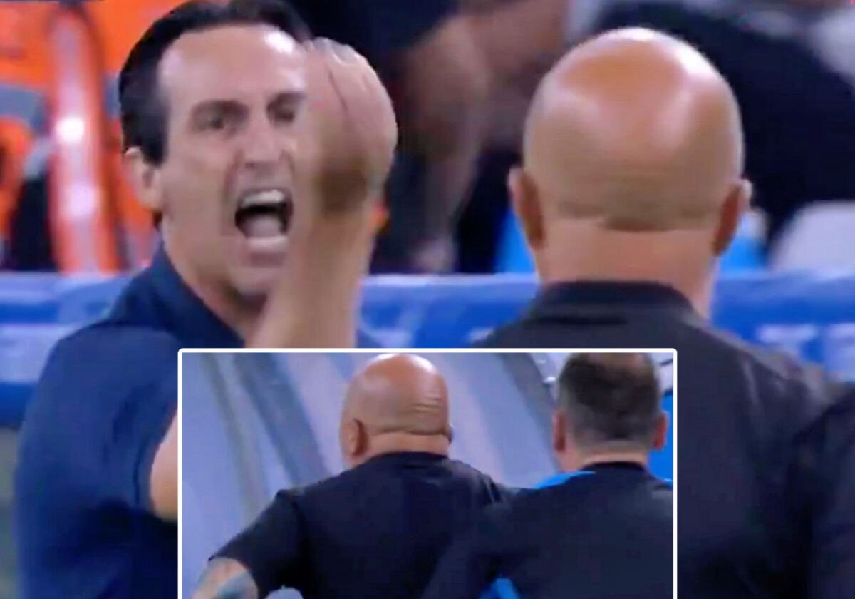 Unai Emery was sent off and Jorge Sampaoli had to be held back as Marseille v Villarreal turned ugly