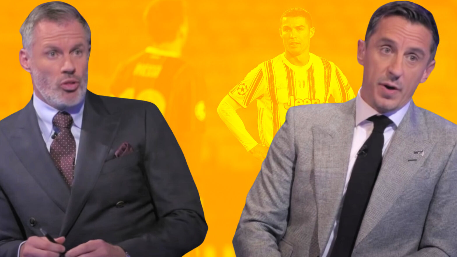 Gary Neville tries to say Ronaldo is greater than Messi but gets roasted by Jamie Carragher