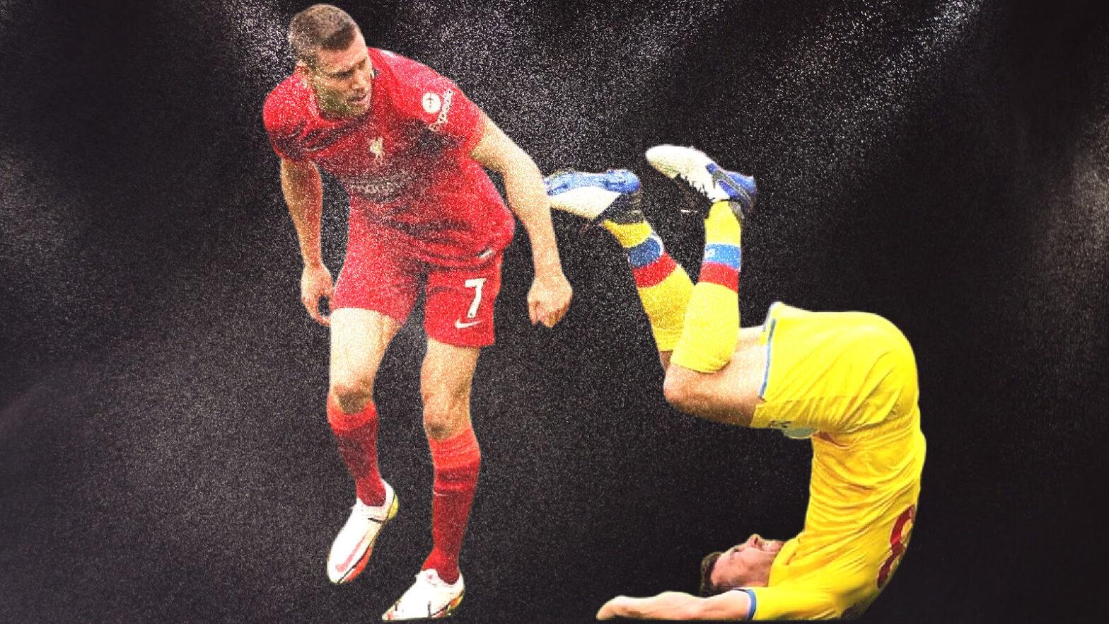 James Milner against Crystal Palace