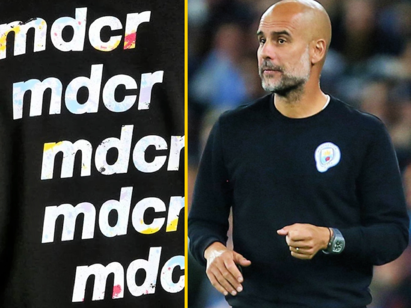Man City manager Pep Guardiola rocks 'Madchester' get up vs Chelsea