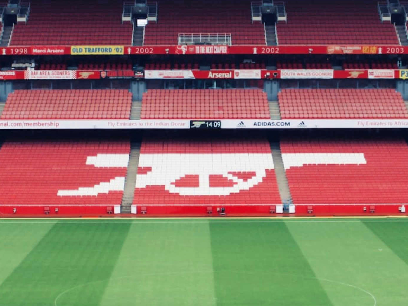 Arsenal's home ground - The Emirates Stadium