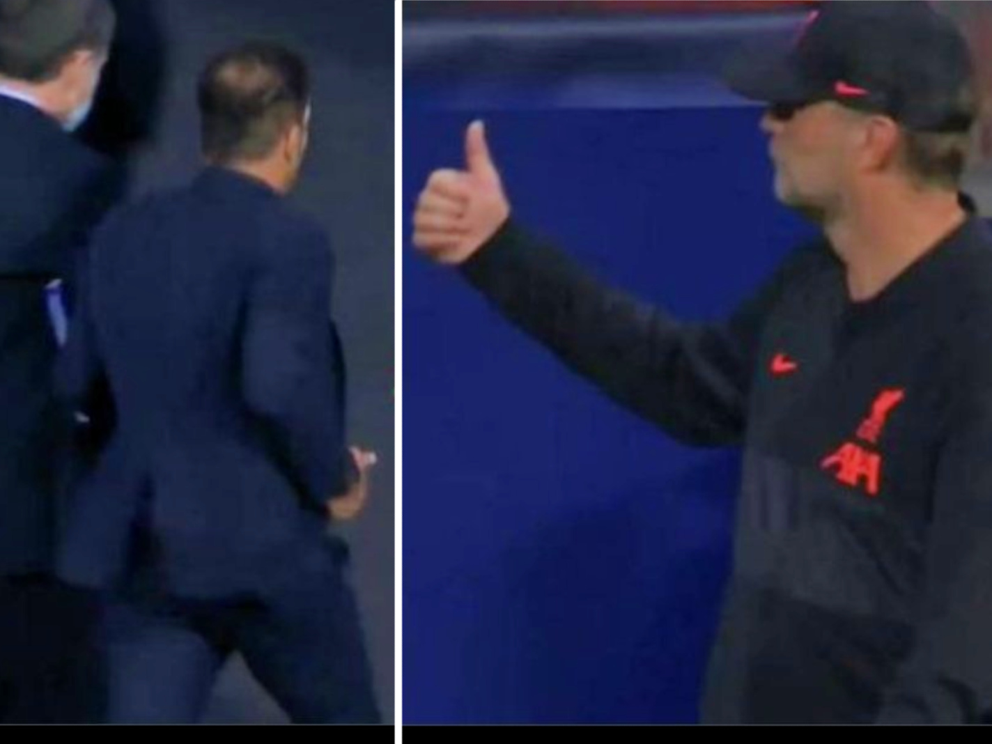 Diego Simeone ran straight down the tunnel after Liverpool defeated Atletico Madrid